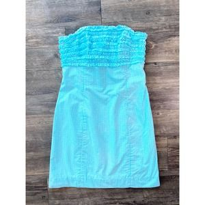 LILLY PULITZER FRANCO GINGHAM DRESS SIZE 0